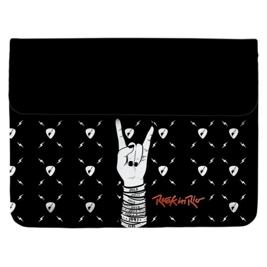 Capa para Notebook - Case Clutch Notebook - Rock and Roll