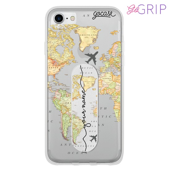 Kit World Map Blank Handwritten (Case+ GoGrip)