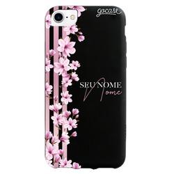 Capinha para celular Black Case - Floral Lines Personalizada