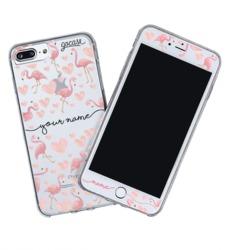 Kit Flamingos Handwritten (Skin Custom White + Case)