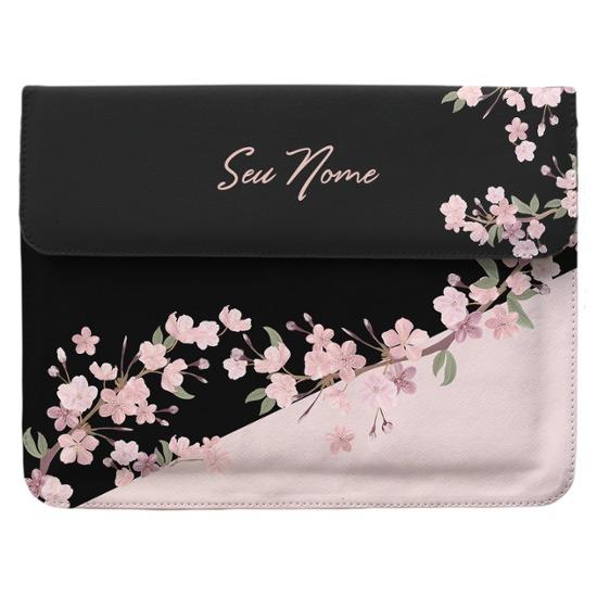 Case Clutch Notebook Personalizada - Classical Rosê Black