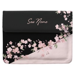 Case Clutch Notebook Personalizada - Classical Rosê Black