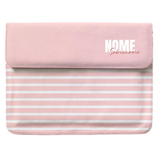 Capa para Notebook - Pink Listras - Stylish