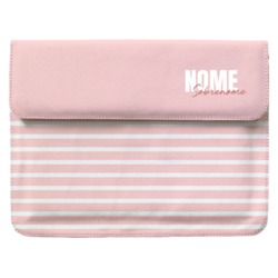 Case Clutch Notebook - Pink Listras - Stylish