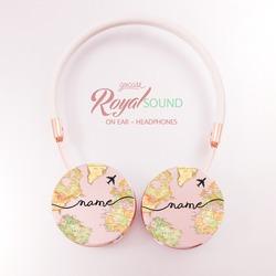 Royal Sound Headphones - World Map Blank Handwritten