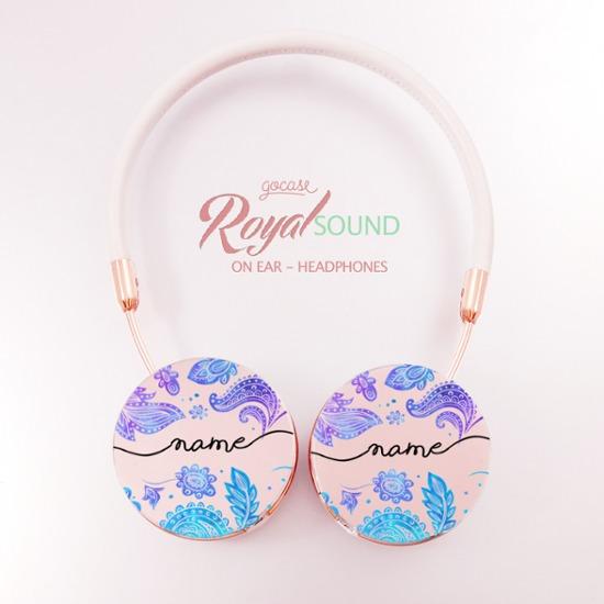 Royal Sound Headphones - Purple Handwritten