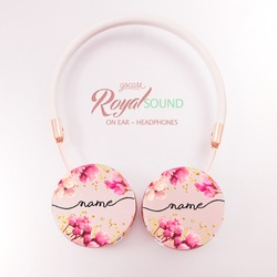 Royal Sound Headphones - Rose Gold Handwritten