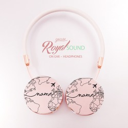 Royal Sound Headphones - World Map Lines Handwritten