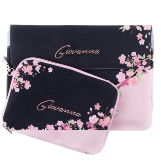 Kit Capa para Notebook 15'' + Porta Acessórios - Classical Rosê Black