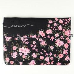 Kit Clutch 13'' + Porta Acessórios - Flores Royale Manuscrita