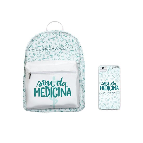 Kit Sou da Medicina (Mochila + Case)