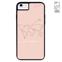 Capinha para celular Metallic - World Travel Manuscrita