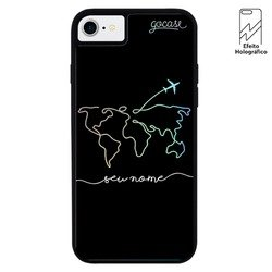 Capinha para celular Holo - World Travel Manuscrita