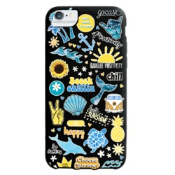Black Case - Summer Patches - Summer Collection Phone Case