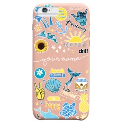 Royal Rose - Summer Patches Handwritten - Summer Collection Phone Case