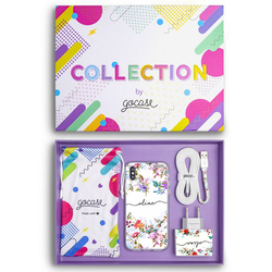Kit Vintage Garden Handwritten (Case + wall charger + cable + collection box)