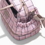 Lunch bag xadrez rosa bolso %282%29