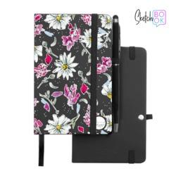 Sketchbook Black - Spring Flowers
