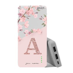 Carregador Portátil Power Bank Slim (10000mAh) - Classical Rosé Inicial Glitter