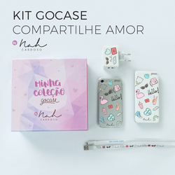 Kit Gocase Compartilhe Amor by Nah Cardoso (Carregador Portátil de 10000mAh)