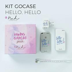 Kit Gocase Hello Hello by Nah Cardoso (Carregador Portátil de 10000mAh)