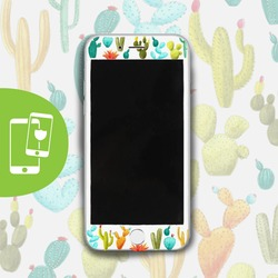 Cactus White Screen Protector - Tempered Glass
