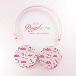 Royal Sound Headphones - Pink unicorns