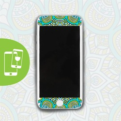Green Mandala White Screen Protector - Tempered Glass