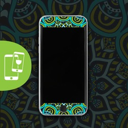 Green Mandala Black Screen Protector - Tempered Glass