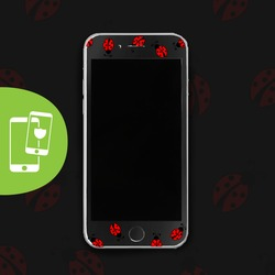 Lady Bug Black Screen Protector - Tempered Glass