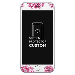 Pink Bubbles White Screen Protector - Tempered Glass