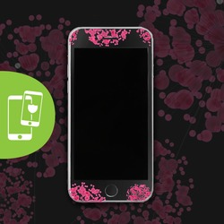 Pink Bubbles Black Screen Protector - Tempered Glass