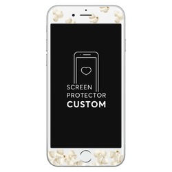 Popcorn White Screen Protector - Tempered Glass
