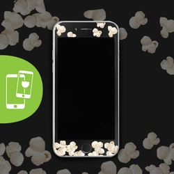 Popcorn Black Screen Protector - Tempered Glass