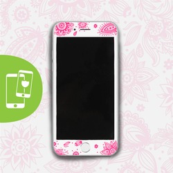 Pink Lace White Screen Protector - Tempered Glass