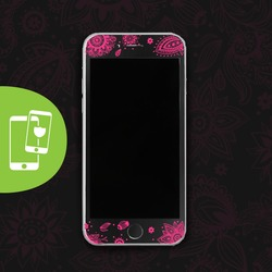 Pink Lace Black Screen Protector - Tempered Glass