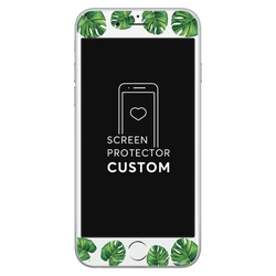 Tropical Green White Screen Protector - Tempered Glass