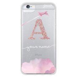Sweet travel initial glitter Phone Case