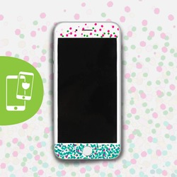 Spring Dots White Screen Protector - Tempered Glass