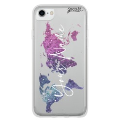 Stellar World Map Customizable Phone Case