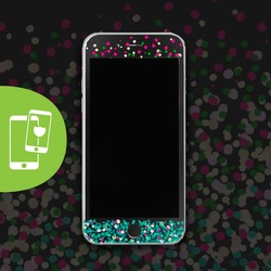 Spring Dots Black Screen Protector - Tempered Glass