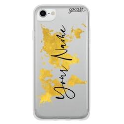 Gold Clean Mundi Map Phone Case