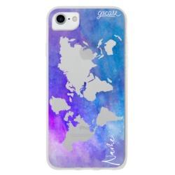 Purple World Map Phone Case