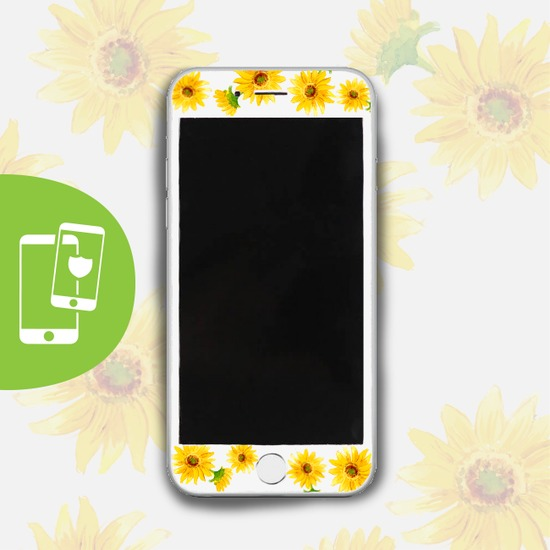 Sunflower White Screen Protector - Tempered Glass