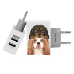 Carregador Personalizado iPhone/Android Duplo USB de Parede Gocase - Doguinhos by Niina Secrets