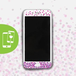 Pink Dots - Película Anti-Impacto Customizada - Vidro Temperado