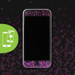 Pink Dots - Película Anti-Impacto Customizada - Vidro Temperado (Preto)
