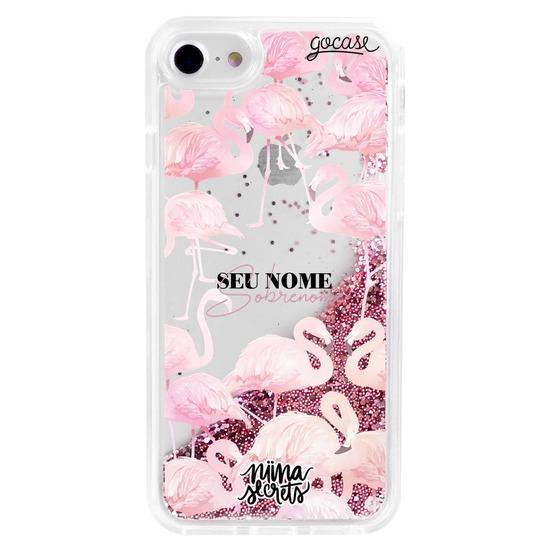 Capinha para celular Flow - Pink Flamingos by Niina Secrets