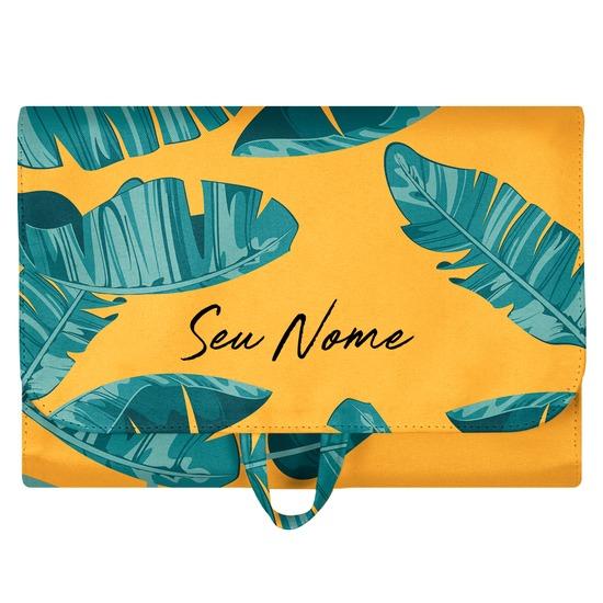 Necessaire Trip - Folhas Tropicais Personalizada