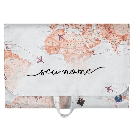 Necessaire Trip - World Trip Manuscrita
